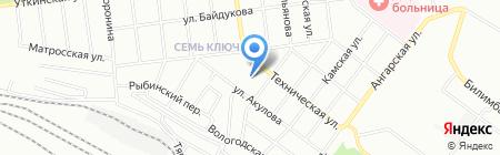 Гранит на карте Екатеринбурга