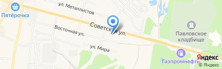 Советский на карте Среднеуральска