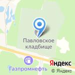 Среднеуральское кладбище на карте Среднеуральска