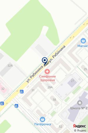 Таленто на карте Екатеринбурга