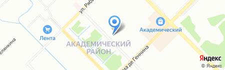Звездный на карте Екатеринбурга