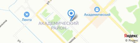 Брусника на карте Екатеринбурга