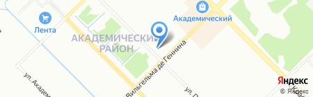 Фаэтон на карте Екатеринбурга
