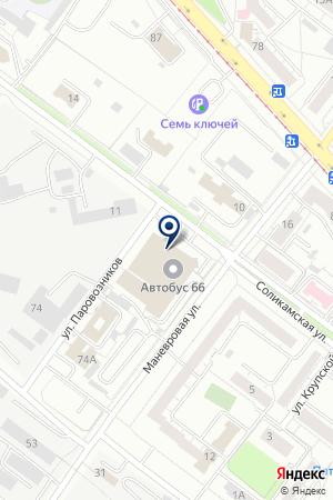 Столет на карте Екатеринбурга