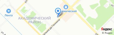 Академическое на карте Екатеринбурга