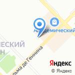 Моделика на карте Екатеринбурга