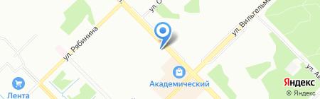 Мясоед на карте Екатеринбурга