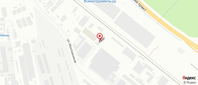 Карта расположения пункта доставки DPD Pickup в городе Екатеринбург