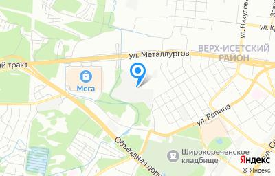 Местоположение на карте пункта техосмотра по адресу г Екатеринбург, ул Краснокамская, стр 106