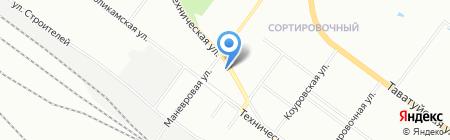 Восход на карте Екатеринбурга