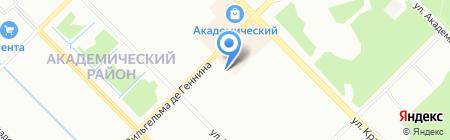 Северное Сияние на карте Екатеринбурга