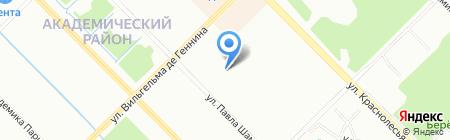 Средняя общеобразовательная школа №16 на карте Екатеринбурга