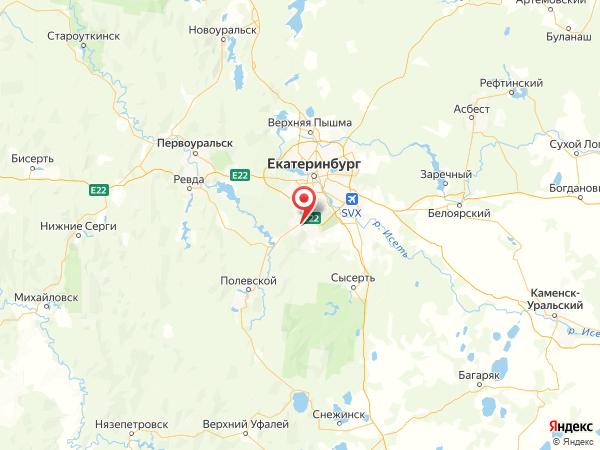 село Горный Щит на карте