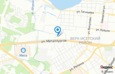 Местоположение на карте пункта техосмотра по адресу г Екатеринбург, ул Металлургов, стр 60