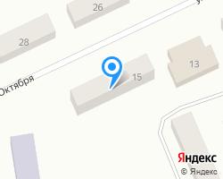 Схема местоположения почтового отделения 624593
