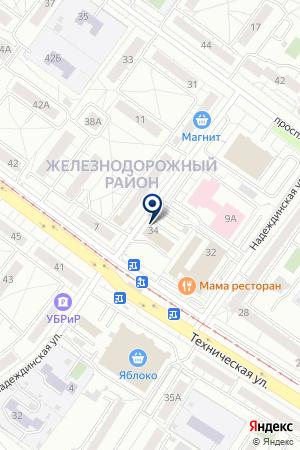 Седьмое небо на карте Екатеринбурга