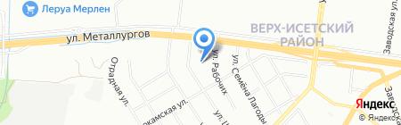 Специальная школа-интернат №17 на карте Екатеринбурга