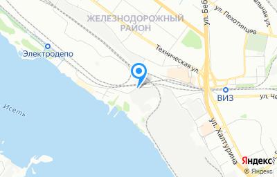 Местоположение на карте пункта техосмотра по адресу г Екатеринбург, ул Труда, д 9А