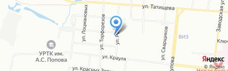 Детский сад №189 на карте Екатеринбурга