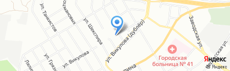 Автомикс на карте Екатеринбурга