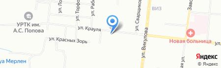 Ильменит на карте Екатеринбурга
