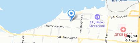 Апартамент на карте Екатеринбурга
