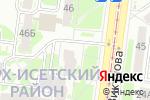 Схема проезда до компании ЭкоРесурс в Екатеринбурге