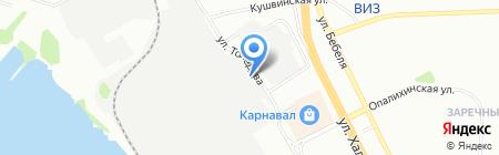 Тео на карте Екатеринбурга