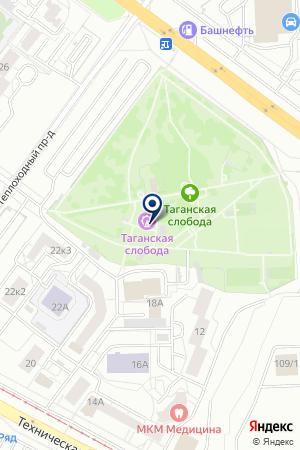 Парк семейного отдыха Таганский на карте Екатеринбурга