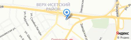 Средняя общеобразовательная школа №41 на карте Екатеринбурга