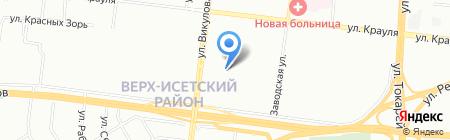 Орфей на карте Екатеринбурга