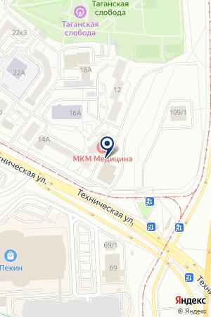 Сауна наТехнической на карте Екатеринбурга
