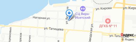 Планета звезд на карте Екатеринбурга