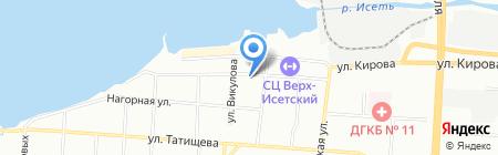 Ек-Строй на карте Екатеринбурга