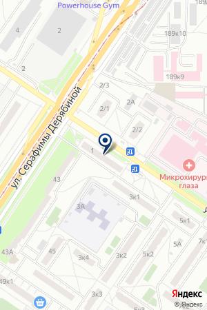 Магазин продуктов на ул. Академика Бардина на карте Екатеринбурга