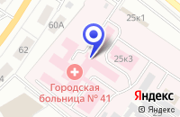 Схема проезда до компании ГОРОДСКАЯ БОЛЬНИЦА N 41 в Екатеринбурге
