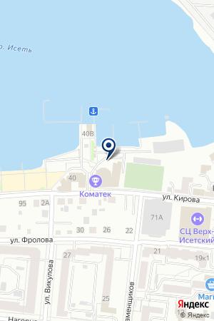 Коматек на карте Екатеринбурга