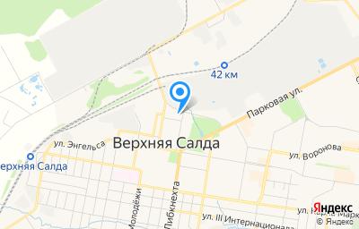 Местоположение на карте пункта техосмотра по адресу Свердловская обл, г Верхняя Салда, ул Карла Либкнехта, д 2А