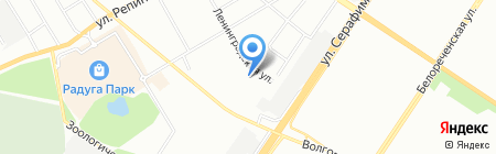 Детский сад №1 на карте Екатеринбурга
