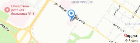 Бонум на карте Екатеринбурга