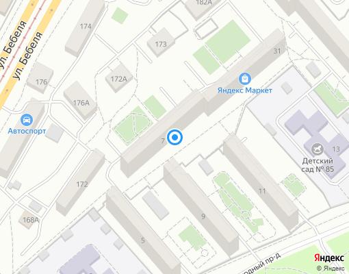 Товарищество собственников жилья «Южный-4» на карте Екатеринбурга