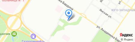 Тимуровец на карте Екатеринбурга