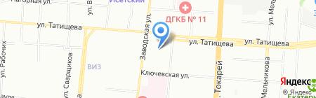 Детский сад №205 на карте Екатеринбурга