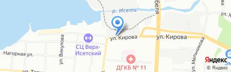 Виста на карте Екатеринбурга