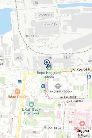 Мебельная Торговая Компания на карте Екатеринбурга