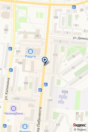 АЗС N 110 ЛУКОЙЛ на карте Кыштыма