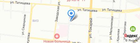 Новатор на карте Екатеринбурга