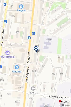 МАГАЗИН БЕЛОРУССКИЙ ТРИКОТАЖ на карте Кыштыма
