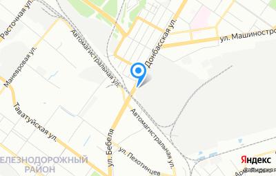 Местоположение на карте пункта техосмотра по адресу г Екатеринбург, ул Донбасская, д 60