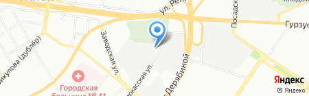 Атлет на карте Екатеринбурга